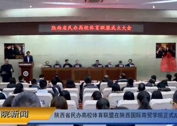 陕西省民办高校体育联盟在陕西国际商贸学院正式成立 (20播放)